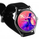 cool michael jackson dancing moon walk signature leather silver Wristwatches