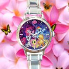 cute little pony friendship is magic galaxy nebula round charm watches stainless steel
