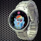 cool little pony friendship is magic rainbow dash Stainless Steel Wristwatches