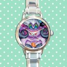 cute ursula little mermaid round charm watches stainless steel