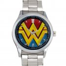 cool Wonder Woman Costume DC logo Stainless Steel Wristwatches