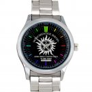 cool supernatural winchester bros logo Stainless Steel Wristwatches