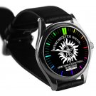 cool supernatural winchester bros logo leather silver Wristwatches