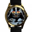 cool star wars darth vader master DJ trance leather gold Wristwatches