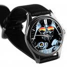 cool star wars darth vader master DJ trance leather silver Wristwatches