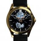cool star wars master DJ trance yoda leather gold Wristwatches
