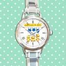 cute minions kevin bob and stuart first denim round charm watches stainless steel