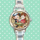 cute Gravity Falls Dipper Mable Pines Wendy round charm watches stainless steel
