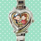 cute Gravity Falls Dipper Mable Pines Wendy heart charm watches stainless steel