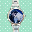 cute once upon a time captain hook round charm watches stainless steel