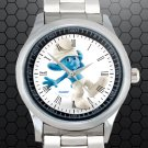 cool smurf clumsy Stainless Steel Wristwatches