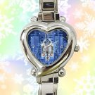 cute star wars r2d2 blueprint heart charm watches stainless steel