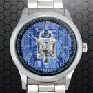 cool star wars r2d2 blueprint Stainless Steel Wristwatches