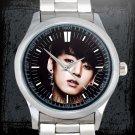 cool jungkook bangtan boys kpop Stainless Steel Wristwatches