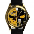 cool Soul Eater Death Shinigami Comic Art Anime leather gold Wristwatches