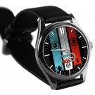 cool Twenty One Pilots logo vessel tyler joseph leather silver Wristwatches
