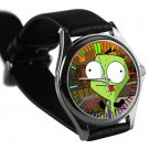 cool Gir Invader Zim Doom tacos leather silver Wristwatches