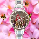 cute Pretty little liars who is A round charm watches stainless steel