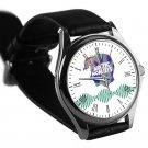 cool Arctic Monkeys Alex Turner logo silver pattern leather silver Wristwatches