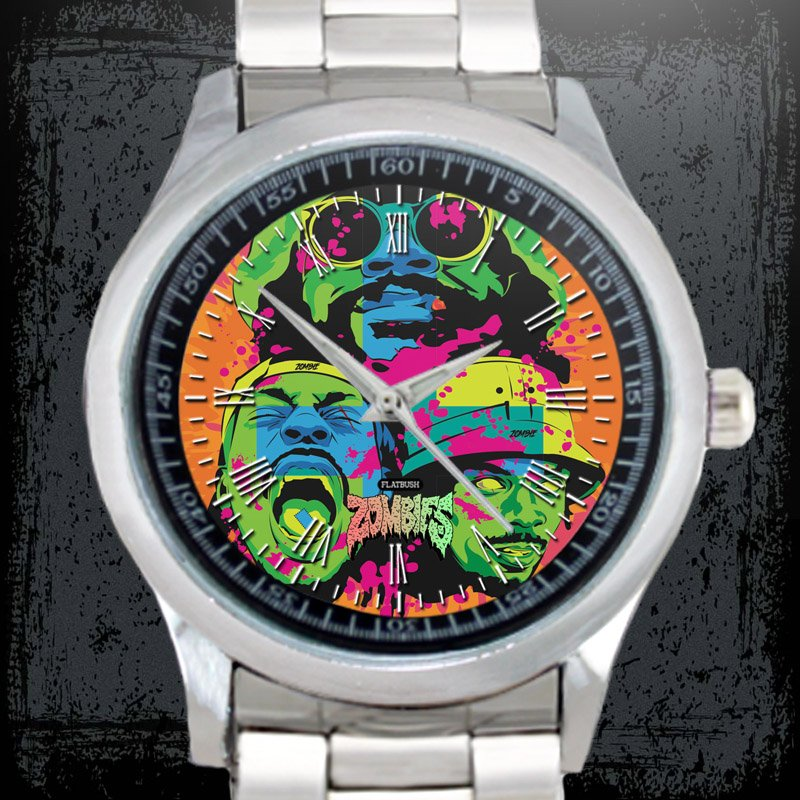 cool FLATBUSH ZOMBIES juice Stainless Steel Wristwatches