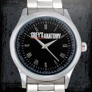cool grey's anatomy movies logo Stainless Steel Wristwatches
