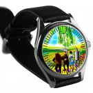 cool The Wizard of Oz dorothy return Scarecrow silver pattern leather silver Wristwatches