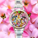cute sailor moon mars jupiter venus crystal round charm watches stainless steel