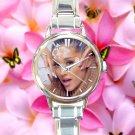 cute ariana grande break free zedd round charm watches stainless steel