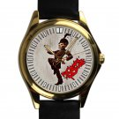 cool my chemical romance paradie leather gold Wristwatches