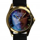 cool ian somerhalder vampire diaries damon salvatore leather gold Wristwatches
