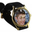 cool JENSEN ACKLES smile supernatural leather gold Wristwatches