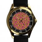 cool ofwgkta golf wang tyler the creator leather gold Wristwatches