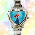cute brave princess merida arrow heart charm watches stainless steel