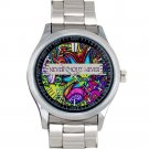 cool Never shout never indie band logo Stainless Steel Wristwatches