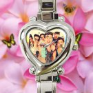 cute our 2nd second life O2L heart charm watches stainless steel