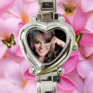 cute Jenni Rivera Memoriam RIP mexico heart charm watches stainless steel