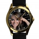 cool Jenni Rivera Memoriam RIP mexico leather gold Wristwatches