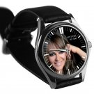 cool Jenni Rivera Memoriam RIP mexico leather silver Wristwatches