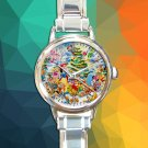cute all disney characters christmas round charm watches stainless steel