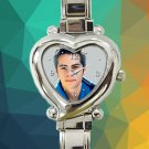 cute dylan o'brian teen wolf heart charm watches stainless steel
