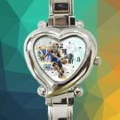 cute stephen curry golden state warriors heart charm watches stainless steel