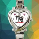 cute R5 Louder Band logo heart charm watches stainless steel