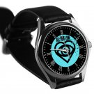 cool all time low future hearts logo leather silver Wristwatches