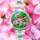 cute Animal Crossing New Leaf round charm watches stainless steel
