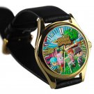 cool Animal Crossing New Leaf leather gold Wristwatches