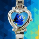cute finding nemo dory hearts logo heart charm watches stainless steel
