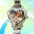 cute Florence And The Machine hearts logo heart charm watches stainless steel