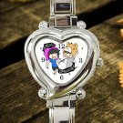 cute Dan And Phil Galaxy hearts logo heart charm watches stainless steel