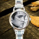 cute Elvis Presley Legend round charm watches stainless steel