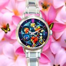 cute Kingdom Hearts Heartless round charm watches stainless steel